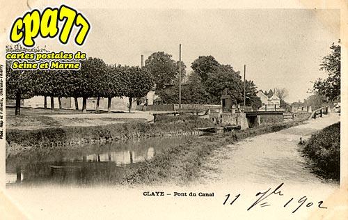 Claye Souilly - Pont du Canal