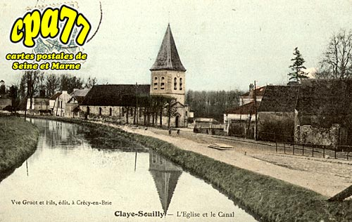 Claye Souilly - L'Eglise et le Canal
