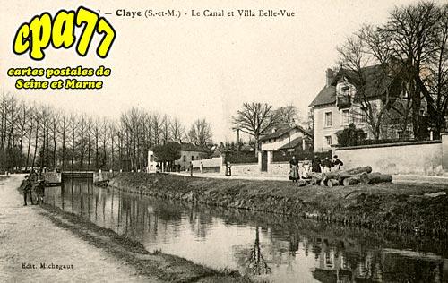 Claye Souilly - Le Canal et Villa Belle-Vue