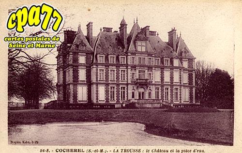 Cocherel - La Trousse : le Château et la pièce d'eau