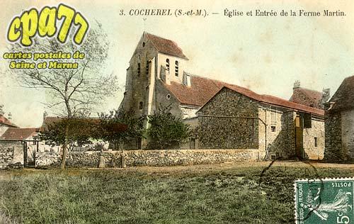Cocherel - Eglise et Entrée de La Ferme Martin