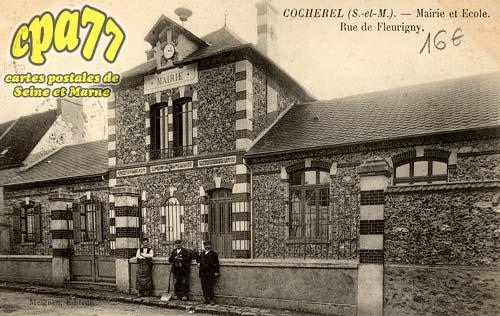 Cocherel - Mairie et Ecole - Rue de Fleurigny