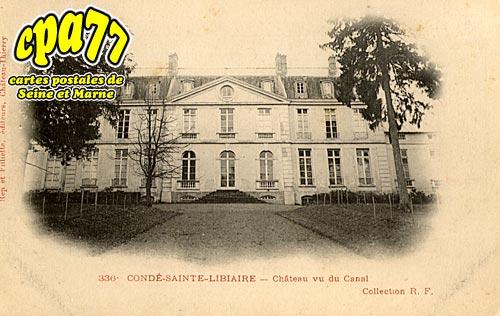 Condé Ste Libiaire - Château vu du Canal