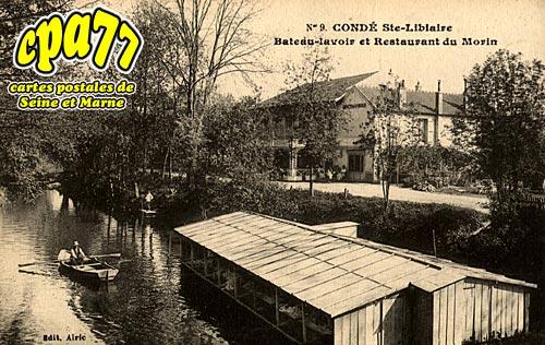 Condé Ste Libiaire - Bateau-lavoir et Restaurant du Morin