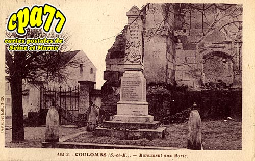 Coulombs En Valois - Monuments aux Morts