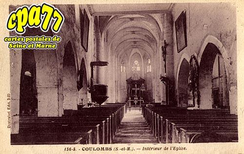 Coulombs En Valois - Intérieur de l'Eglise