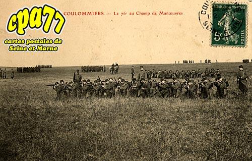 Coulommiers - Le 76e au Champ de Manoeuvres