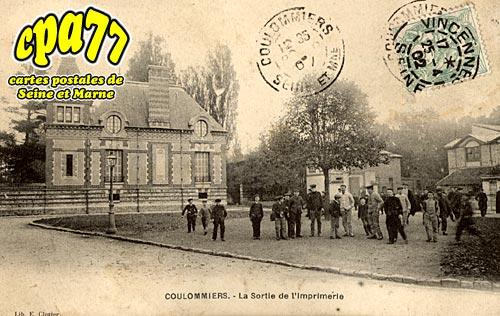 Coulommiers - La Sortie de l'Imprimerie