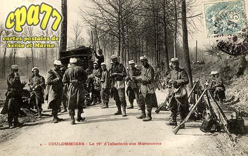 Coulommiers - Le 76e d'Infanterie aux Manoeuvres