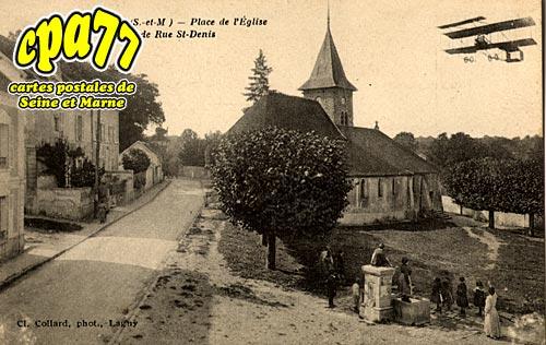 Coupvray - Place de l'Eglise et Grande Rue St-Denis