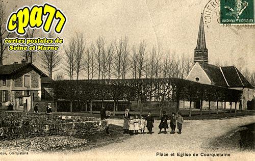 Courquetaine - Place et Eglise