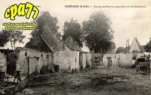 Courtacon - Groupe de Fermes incendiées par les allemands 1914