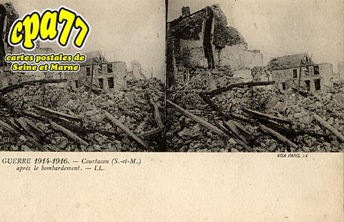 Courtacon - Guerre 1914-1916, après le bombardement