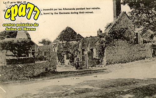 Courtacon - La Guerre 1914-15 le village incendié par les allemands pendant leur retraite