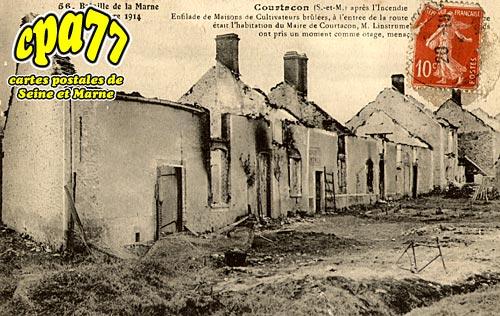 Courtacon - Bataille de la Marne Septembre 1914, après l'incendie
