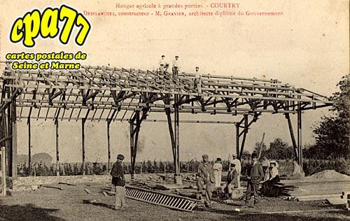 Carte postale ancienne de courtry 77 hangar agricole grandes port es m desplanches - Constructeur de hangar agricole ...