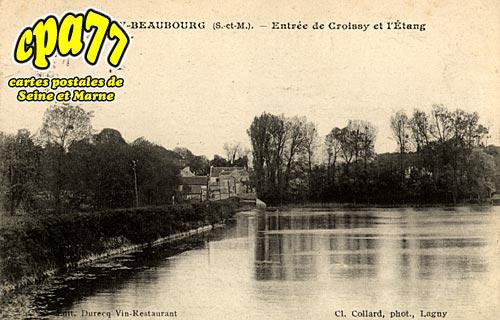 Croissy Beaubourg - Entrée de Croissy et l'Etang