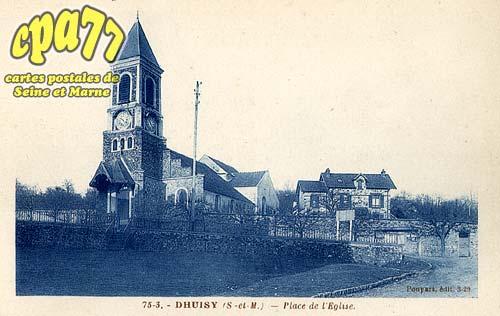 Dhuisy - Place de l'église
