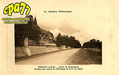égligny - Preuilly - Route de Donnemarie - Rendez-vous annuel du Pèlerinage de N.D. du Chêne