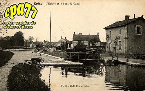 épisy - L'Ecluse et le Pont du Canal