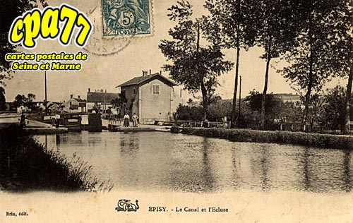 épisy - Le Canal et l'Ecluse
