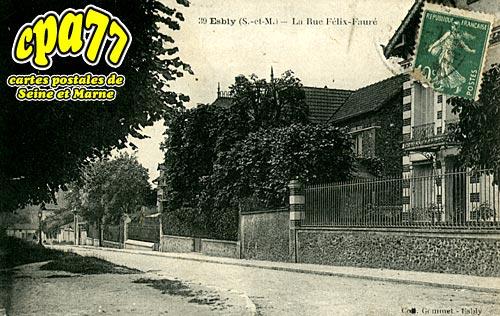 Esbly - La Rue Félix-Fauré