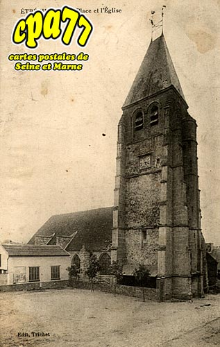 étrépilly - La Place de l'Eglise