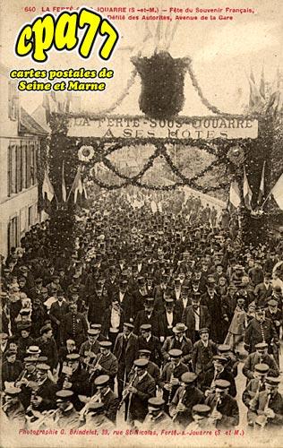 La Ferté Sous Jouarre - Fête du Souvenir Français, le 28 Avril 1907 - défilé des Autorités, Avenue de la Gare