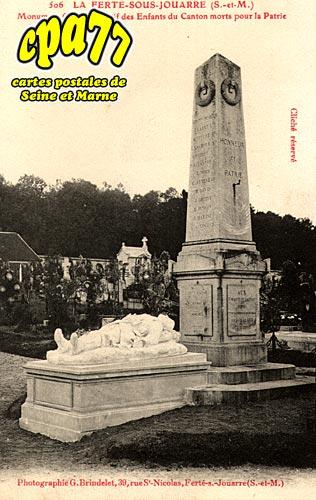 La Ferté Sous Jouarre - Monument Commémoratif des Enfants du Canton morts pour la Patrie