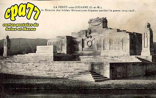La Ferté Sous Jouarre - Mémorial élévé à la Mémoire des Soldats Britanniques disparus pendant la guerre 1914-1918