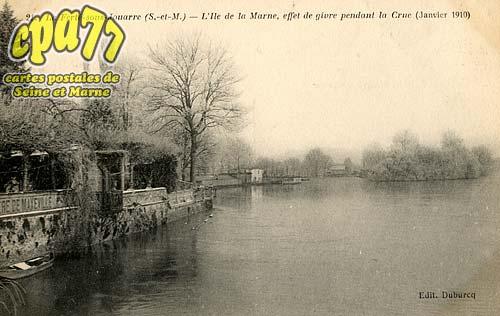 La Ferté Sous Jouarre - L'Ile de la Marne, effet de givre pendant la Crue (Janvier 1910)