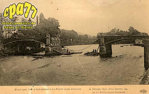 La Ferté Sous Jouarre - Pont que l'on a fait sauter à La Ferté-sous-Jouarre - A bridge that vas blown up at La ferté-sous-Jouarre
