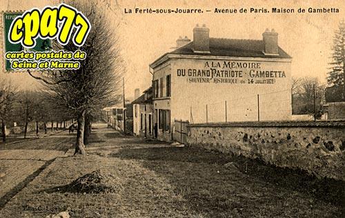 La Ferté Sous Jouarre - Avenue de Paris, Maison de Gambetta