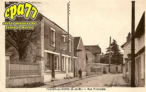 Fleury En Bière - Rue Principale