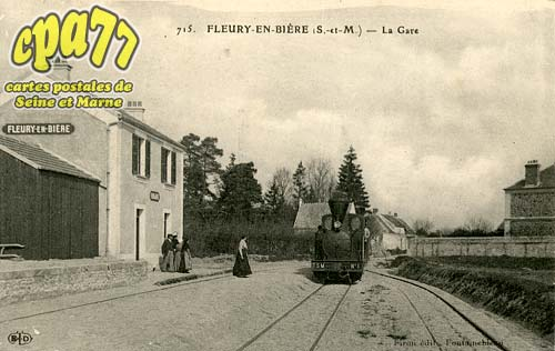 Fleury En Bière - La Gare