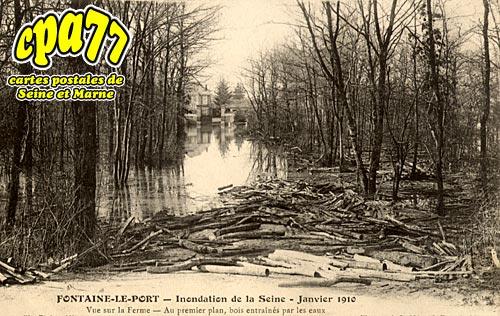 Fontaine Le Port - Inondation de la Seine - Janvier 1910