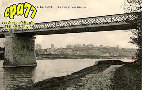 Fontaine Le Port - Le Pont et vue générale