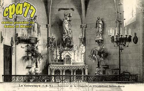 La Genevraye - Intérieur de la Chapelle de l'Orphelinat Sainte-Marie