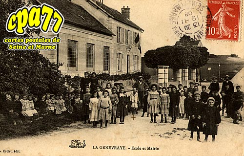 La Genevraye - Ecole et Mairie