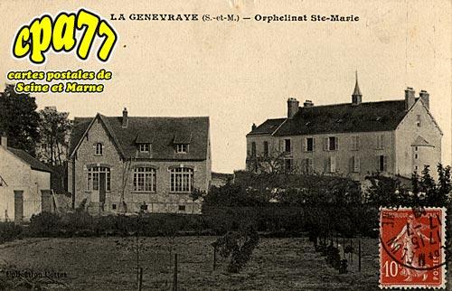 carte postale ancienne de la genevraye 77 orphelinat