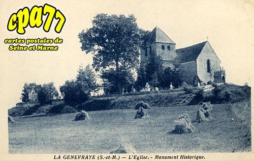 La Genevraye - L'Eglise - Monument Historique