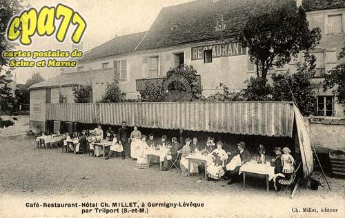 Germigny L'évêque - Café-Restaurant-Hôtel Ch. Millet, à Germigny-Lévêque par Trilport