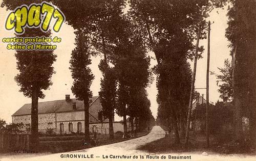 Gironville - Le Carrefour de la Route de Beaumont