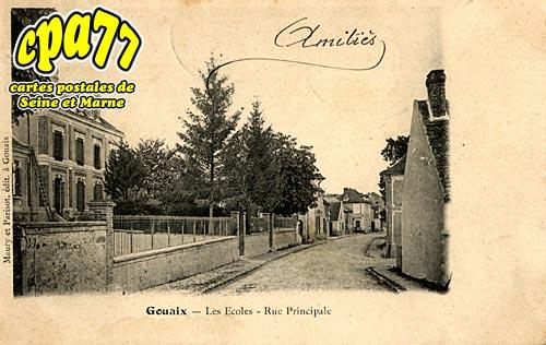 Gouaix - Les Ecoles - Rue Principale