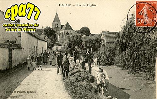 Gouaix - Rue de l'Eglise