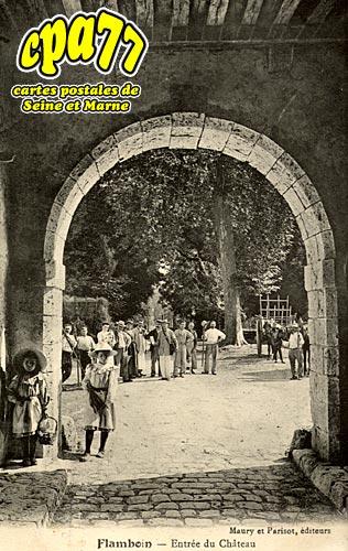 Gouaix - Flamboin - Entrée du Château