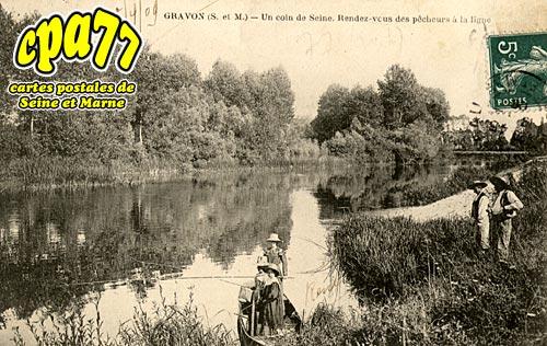 Gravon - Un coin de Seine. Rendez-vous des pêcheurs à la ligne