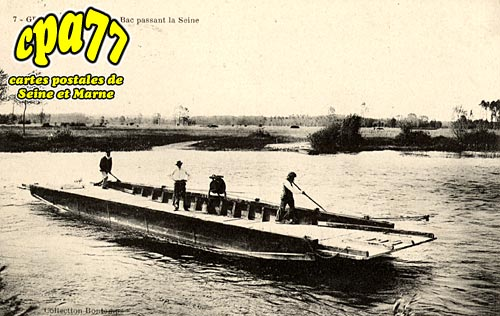 Gravon - Le Bac passant la Seine