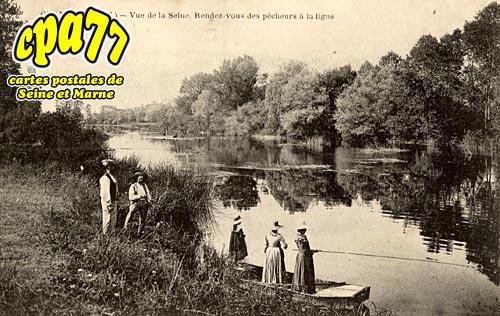 Gravon - Vue de la Seine - Rendez-vous des pêcheurs à la ligne
