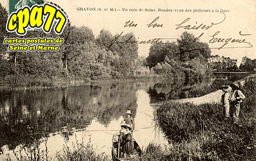 Gravon - Un coin de Seine - Rendez-vous des pêcheurs à la ligne